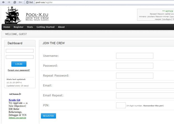 Litecoin pool Pool-x.eu