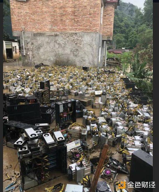 майнеры наводнение китай