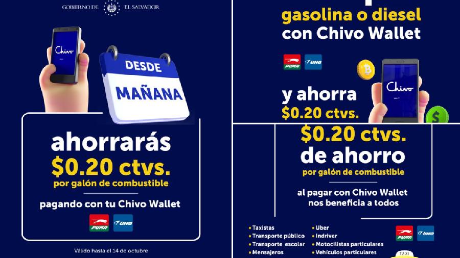 Пользователи кошелька Chivo в Сальвадоре получат скидку на оплату топлива