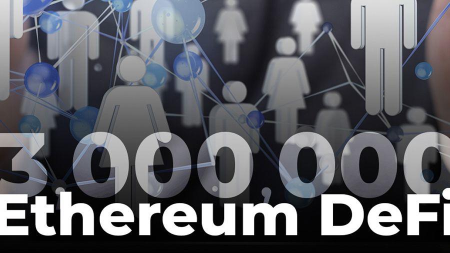 Количество взаимодействующих с протоколами DeFi адресов Эфириума превысило 3 млн