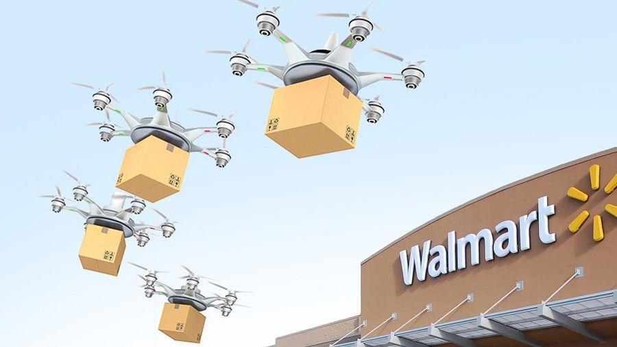 Walmart запатентовала систему коммуникации дронов на блокчейне