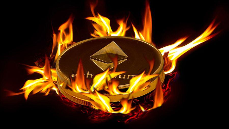 В сети Эфириума сожжено более 200 000 ETH за месяц