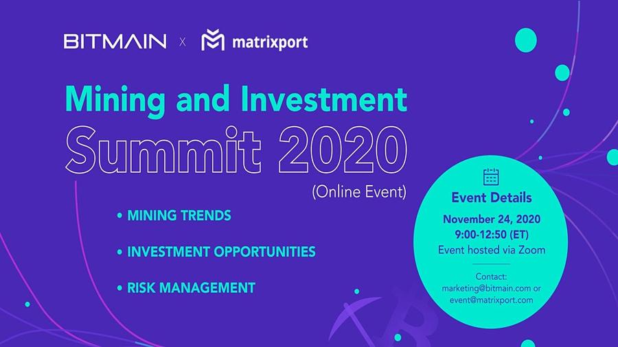 24 ноября состоится Mining and Investment Summit 2020