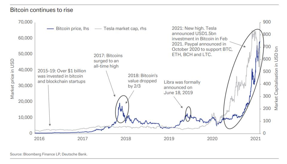 Марион Лабуре: «рост акций Tesla намекает на потенциал биткоина»