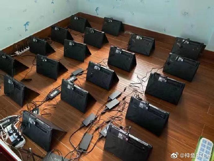 Китайская майнинговая ферма использует игровые ноутбуки Hasee для добычи криптовалют