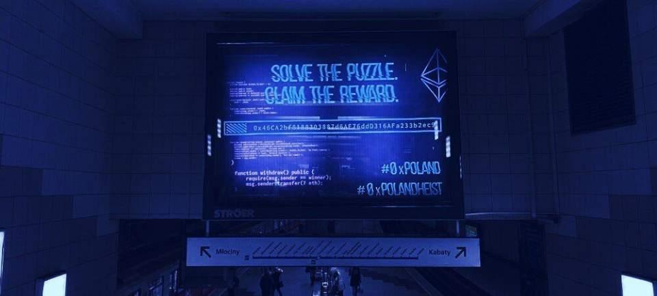 Пользователь Эфириума решил загадку в варшавском метро и получил 7 ETH